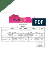 Afterschool Program Schedule