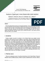 Analysis of Peak Gust Versus Fastest-Mile Wind Statistics- Peterson