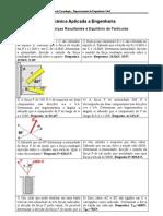 LISTA 1 - Equilibrio de Particulas No Plano
