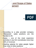 Nature and Scope of Sales Management