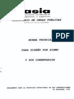 Norma Tecnica Para Diseño Por Sismo (El Salvador, 1997)