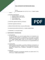 INFORME FINAL DE PROYECTO DE PROYECCIÓN SOCIAL
