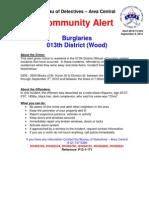 Burglaries - 13th District (Wood)