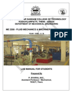 Fluid Mechanics - Tksct Lab Manual