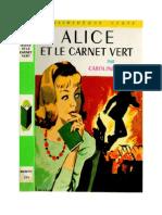Caroline Quine Alice Roy 07 BV Alice Et Le Carnet Vert 1932