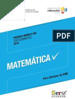 Modelo Prueba Matematica Decimo Basico