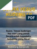 Kj 144b Suara Yesus Kudengar