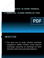 Magnesium Sulfate in Severe Perinatal Asphyxia