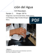 Disolución del agua. 1