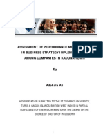 Assessment of Performance Measurement in Business Strategy3484