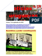 Noticias Uruguayas Viernes 7 de Setiembre Del 2012