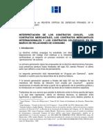 Interpretacion de Contratos Mercatiles e Internacionales