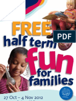 October Half Term 2012 Family Fun Flyer