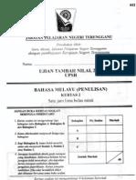 BM Penulisan - Tambah Nilai - Terengganu 2012