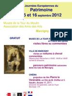 Journées Européennes du Patrimoine 2012 à la Tour du Moulin - Marcigny