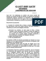 Comunicado conjunto sindicatos GEACAM sobre ERE y Huelgas 10 y 11 de Septiembre e indefinida