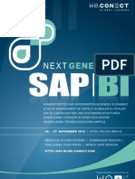 Next Generation SAP BI 2012_agenda