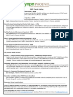 YNPN Phoenix 2009 Schedule of Events
