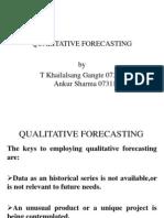 Qualitative Forecasting
