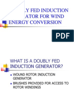 Doubly Fed Induction Generator for Wind Energy Conversion