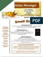 September 9 Newsletter