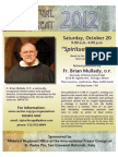 2012 Padre Pio Retreat Poster