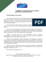 Manifestação do Fórum dos Procons Mineiros sobre a Atualização do Código de Defesa do COnsumidor