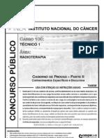 Cespe 2010 Inca Tecnico 1 Radioterapia Prova