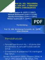 Pengaruh Ldl, Hdl, Trigliserida,