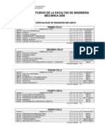 Plan Curricular - Ing. Mecanica UNI FIM