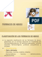 FÁRMACOS DE  ABUSO