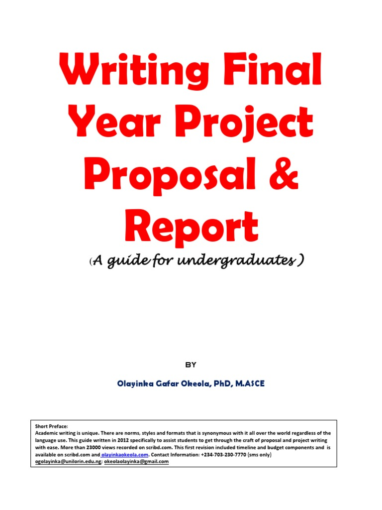 Writting Final Year Project Proposal And Report | Abstract (Summary) |  Citation