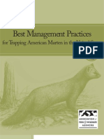 Best Management Practices for Trapping American Marten in the United States