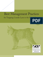Best Management Practices for Trapping Canada Lynx in the United States