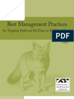 Best Management Practices for Trapping Swift and Kit Foxes in the United States