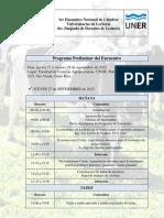 Programa preliminar Primera  Reu nión Nacional de Cátedras Univer sitarias de Lechería