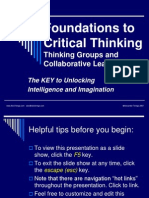 Foundations to Critical Thinking