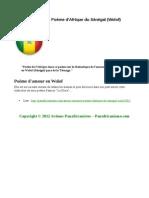 Amour - Romance: Poème d'Afrique du Sénégal (Wolof)