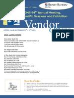 2012 AAOMS Meeting Vendor Offers