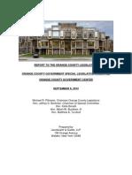 OC Legislature Government Center Final Report