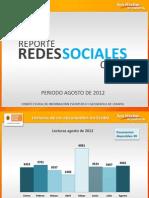 Reporte Redes Sociales Agosto 2012
