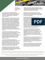 Tax  Alert - Resolución que establece las normas que regirán las cuentas en moneda extranjera en el Sistema financiero Naci