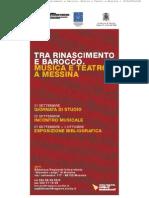 Esposizione Bibliografica Tra Rinascimento e Barocco. Musica e Teatro a Messina 1