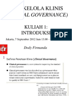 Dody Firmanda 2012 - Materi Kuliah Clinical Governance (1 dari 16)