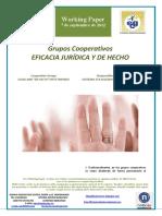 """Grupos Cooperativos. EFICACIA JURIDICA O DE HECHO (Es) Cooperative Groups. LEGAL AND """"DE FACTO"""" EFFECTIVENESS (Es) Kooperatiben Taldeak. EGITAZKO ETA LEGEZKO ERAGINKORTASUNA (Es)"""
