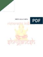 Menu Shri Ganesh