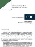 Comparaciones internacionales de la dotación de profesionales y la posición relativa chilena