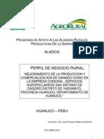 Proyecto Ganado Ovino-yarumayo-huanuco