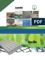 Lamina Poliester Resistente a la Corrosión Resolite Stabilit