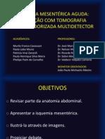 Isquemia Mesentérica Aguda, avaliação com tomografia computadorizada